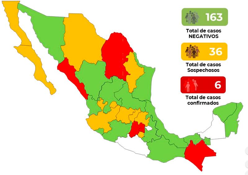 Mapa México coronavirus COVID-19