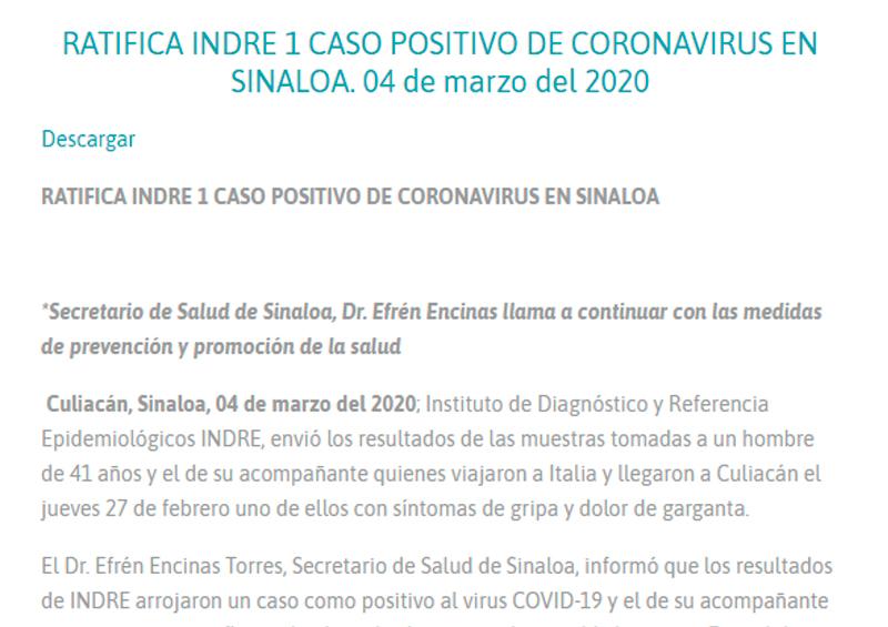 Secretaria de Salud Sinaloa