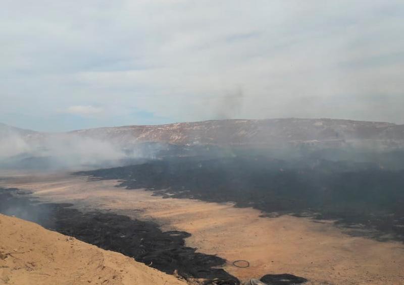 incendio basurero llantas La Paz